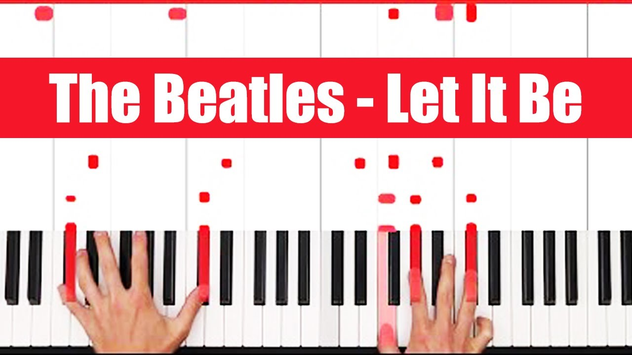 Let It Be The Beatles Piano Tutorial - EASY - PART 1