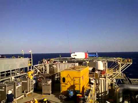Offshore helicopter rescue in GoM MC 547