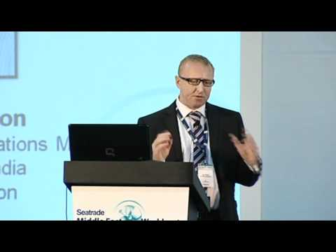 Capt. Ian Bacon presents at Seatrade Middle East Workboats 2011