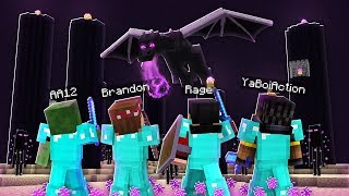 FIGHTING THE ENDER DRAGON IN MINECRAFT!! - REALMS EP48
