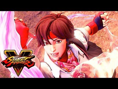 Street Fighter 5 - SAKURA Reveal Trailer @ 1080p (60ᶠᵖˢ) HD ✔