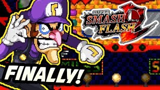 WALUIGI FINALLY JOINS SMASH!! | Super Smash Flash 2 NEW Walugi Reveal! (Discussion & Analysis)