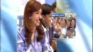 12 Marzo 2015  Cristina obras videoconferencias Córdoba,Mar del Plata