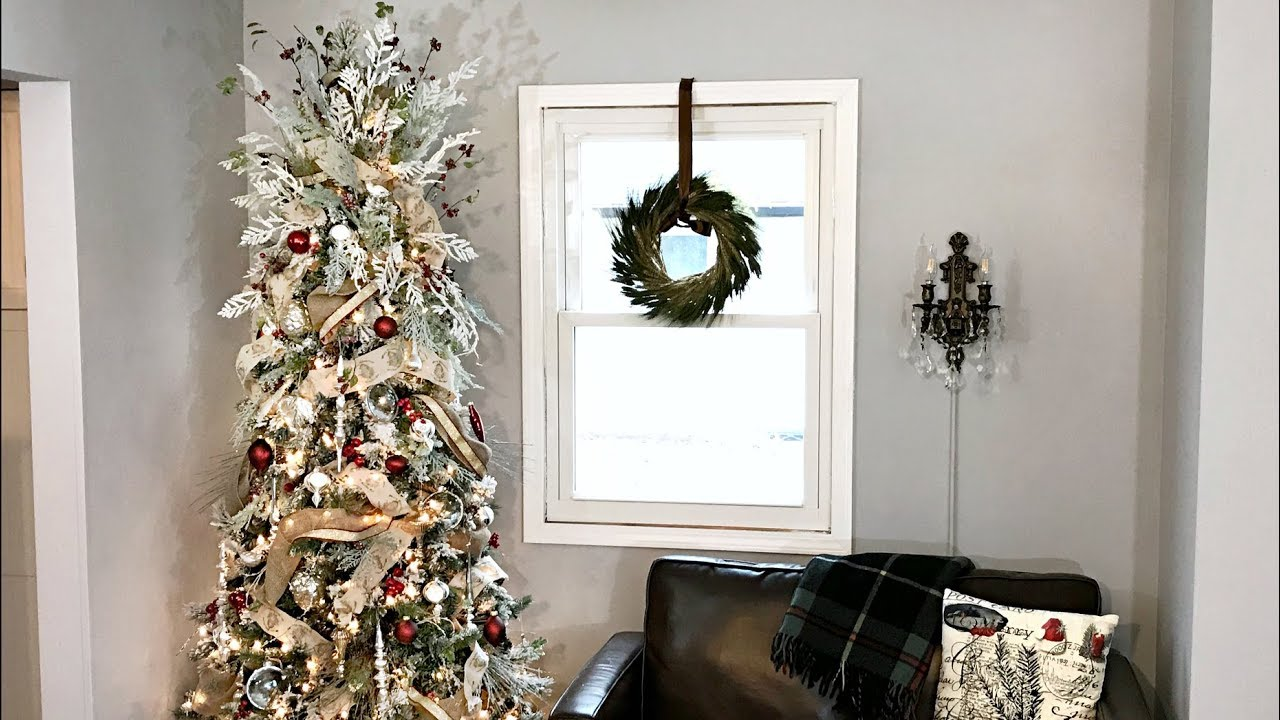 flocked burlap christmas tree how to decorate a flocked tree