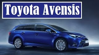 Toyota Avensis, facelifted sedan and wagon, their debut at 2015 Geneva Motor Show