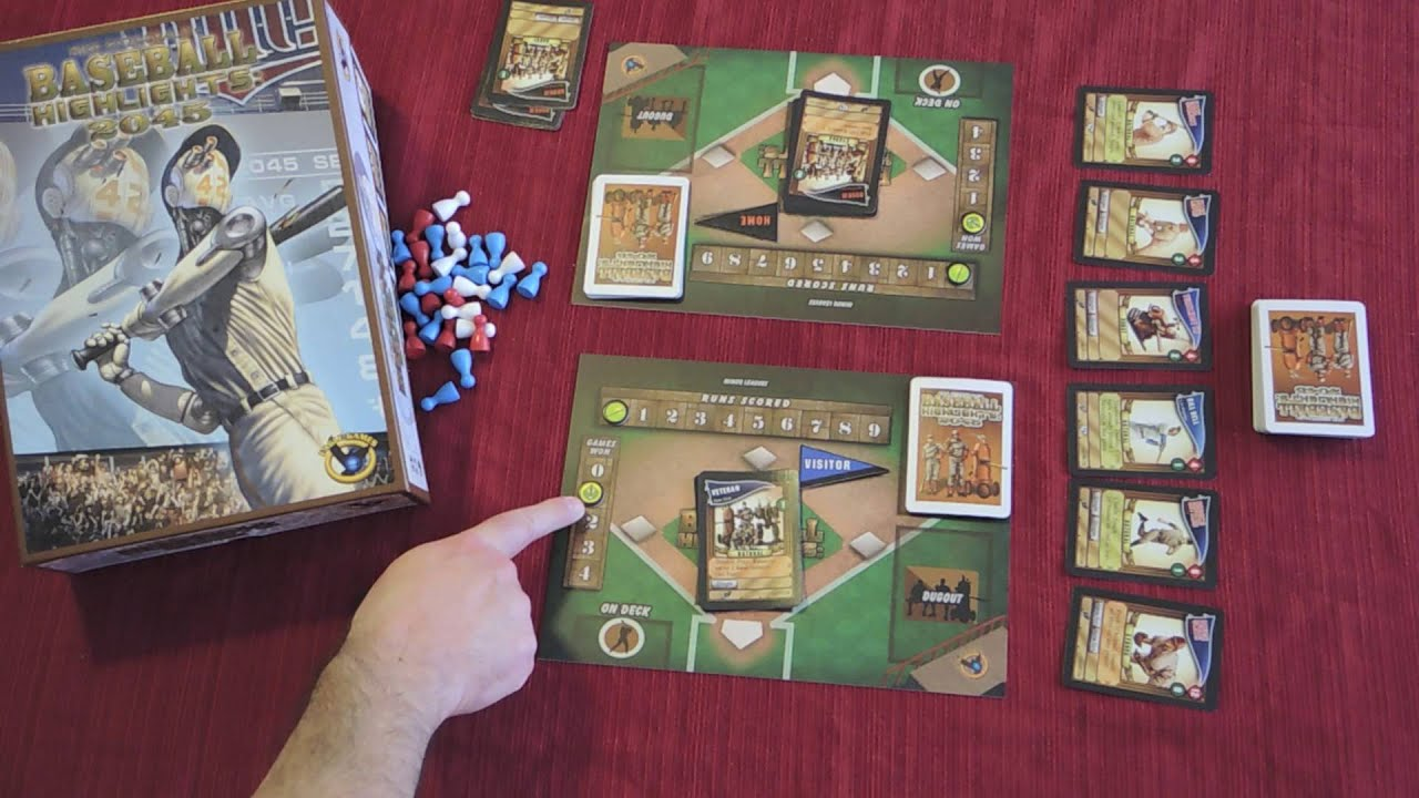 Baseball Highlights 2045 Card Game Quick Walkthrough W Doron