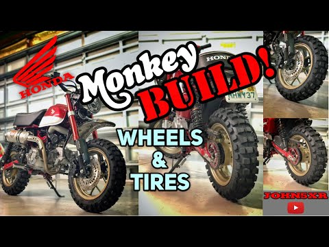 2019 Honda Monkey Build: Wheel Color Change and new Tires!