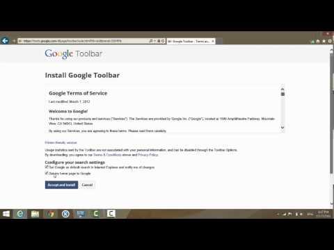 How To Install Google Toolbar On Internet Explorer