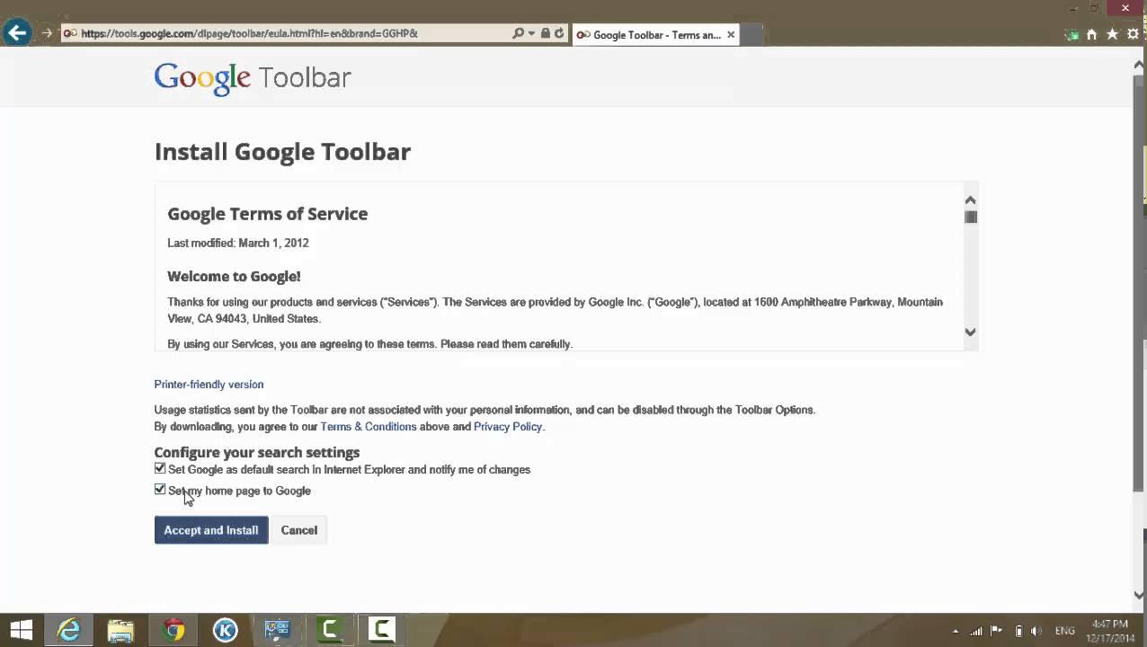 Download toolbar 2012 google