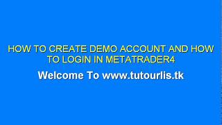 Forex How to create Demo account and How to Login in Metatrader4