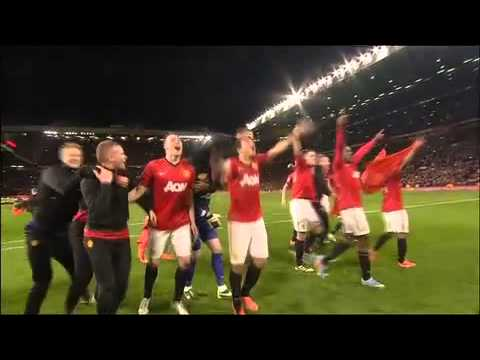 title celebration manchester united champions 2013