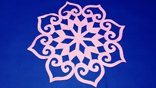 paper cutting snowflake DIY-How to make easy paper cutting Design for decoration-paper craft