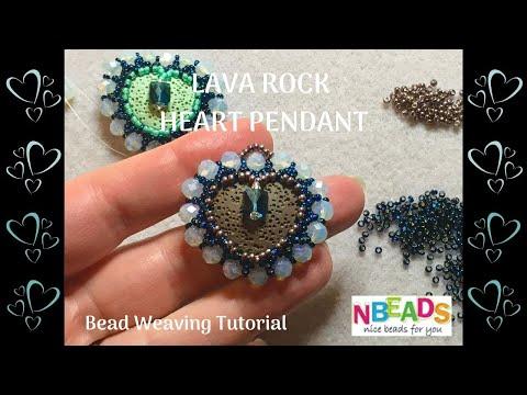 Lava Heart Pendant Tutorial | Aromatherapy Pendant | Valentine's Beading Project | Nbeads.com