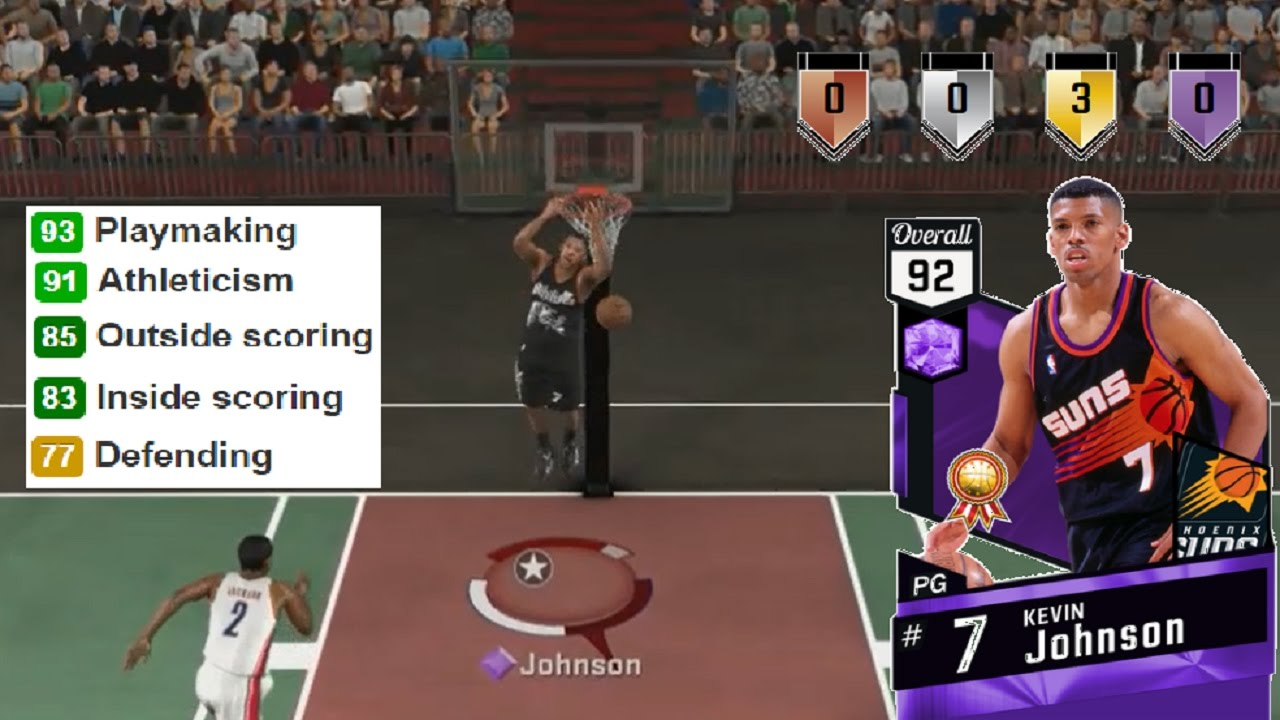 NBA 2K17 Amethyst Kevin Johnson Gameplay & Stats MyTeam Blacktop