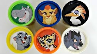THE LION GUARD Play-Doh lids & Animal Sounds Toy Surprises