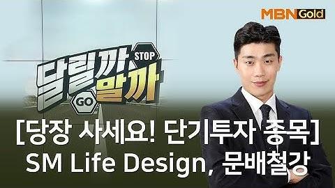 [당장 사세요! 단기투자 종목] SM Life Design 문배철강_MBN골드 김준호 매니저 #4/8