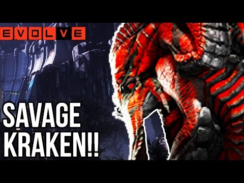 SAVAGE KRAKEN OMG!! Evolve Gameplay Walkthrough - Multiplayer - Part 37!! (XB1 1080p HD)