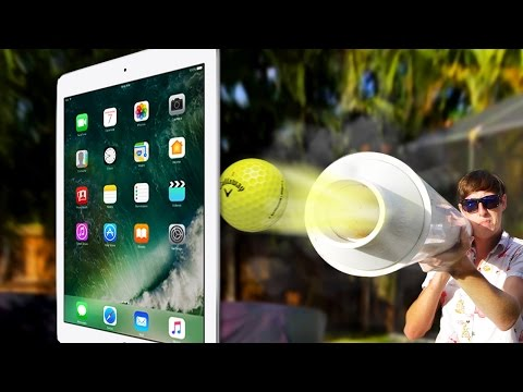 Thumbnail: Can a Tankier Shoot Golf Ball Through iPad Pro 9.7? MASSIVE POTATO GUN!