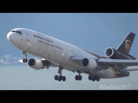 United Parcel Service (UPS) McDonnell Douglas MD-11F (N291UP) takeoff from KIX/RJBB (Kansai) RWY 06R