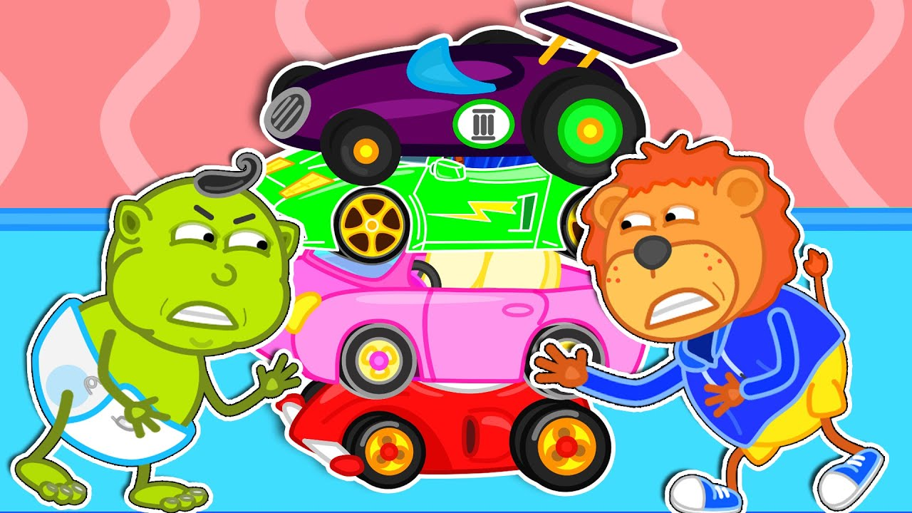 Download Lion Family | Magic Little Driver Ride on Toy Cars and Transform Car #2. Hot Wheels Cartoon for Kids