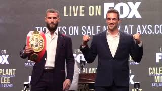 HEATED FACE OFF! CALEB PLANT & MIKE LEE EXCHANGE WORDS DURING FINAL PRESSER