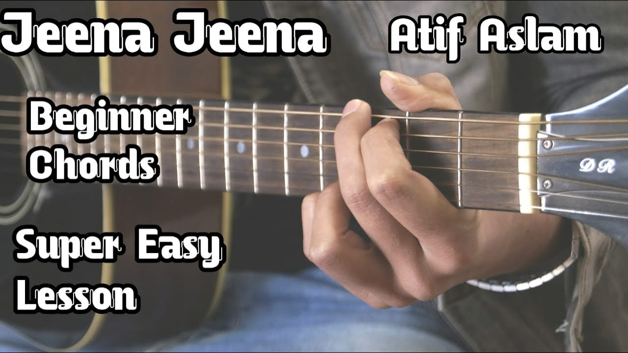 Jeena Jeena | Atif Aslam | Basic Guitar Lesson For Beginners | Badlapur | Open Chords| Guitar Adda