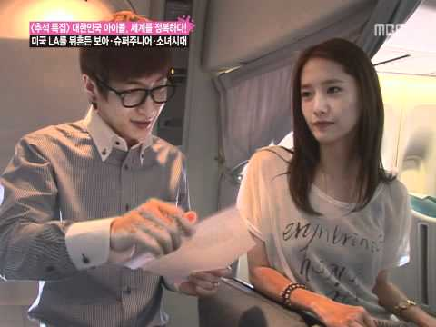 Eeteuk & Yoona in Flight Announcement , Chuseok spe 3/9 smtown Sep24.2010 GIRLS' GENERATION 720p HD