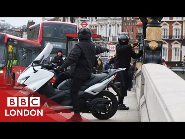The 'boy-snatch' moped gang have been jailed - BBC London
