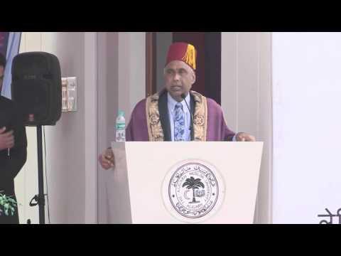 Mr. Islam convocation  Speech at Aligarh University