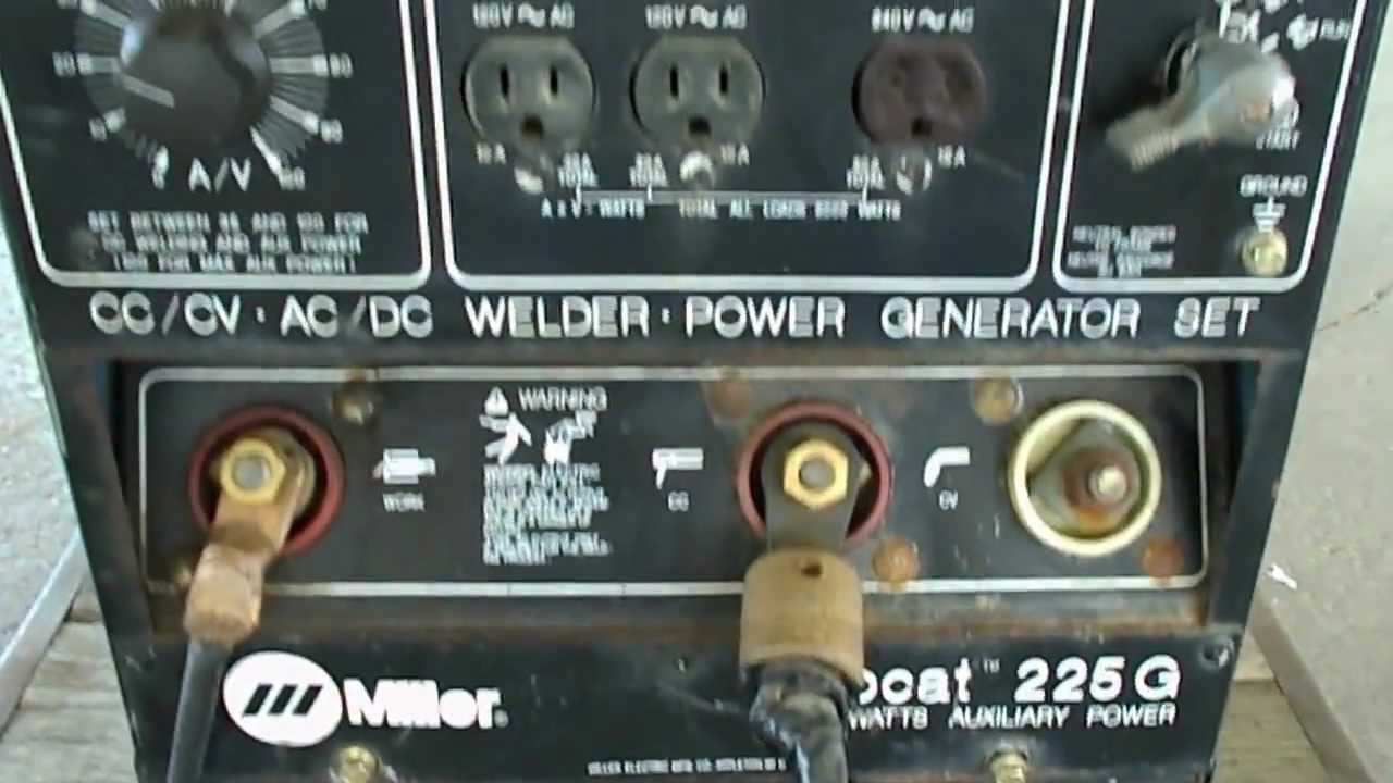 Miller Bobcat Ac Dc Welder Generator Youtube