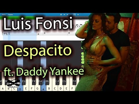 Luis Fonsi - Despacito ft. Daddy Yankee [Piano Tutorial | Sheets | MIDI] Synthesia
