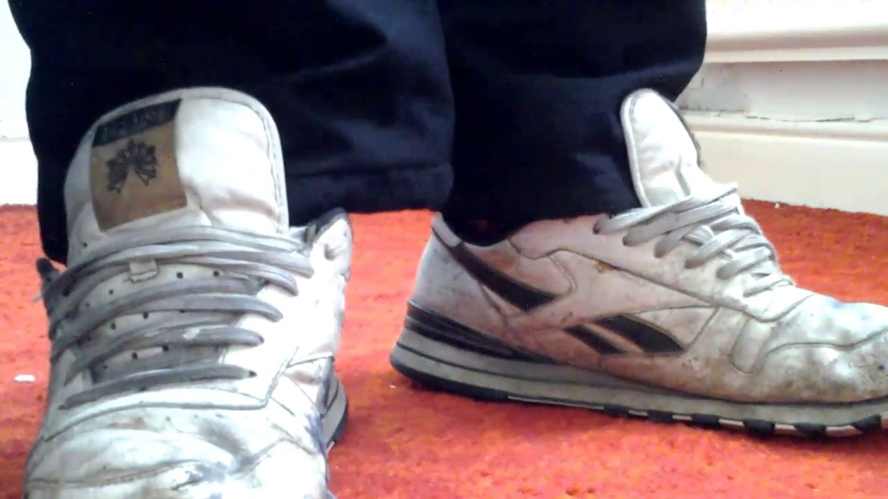 8116af54cdd Reebok classic trashed trainers scally - YouTube