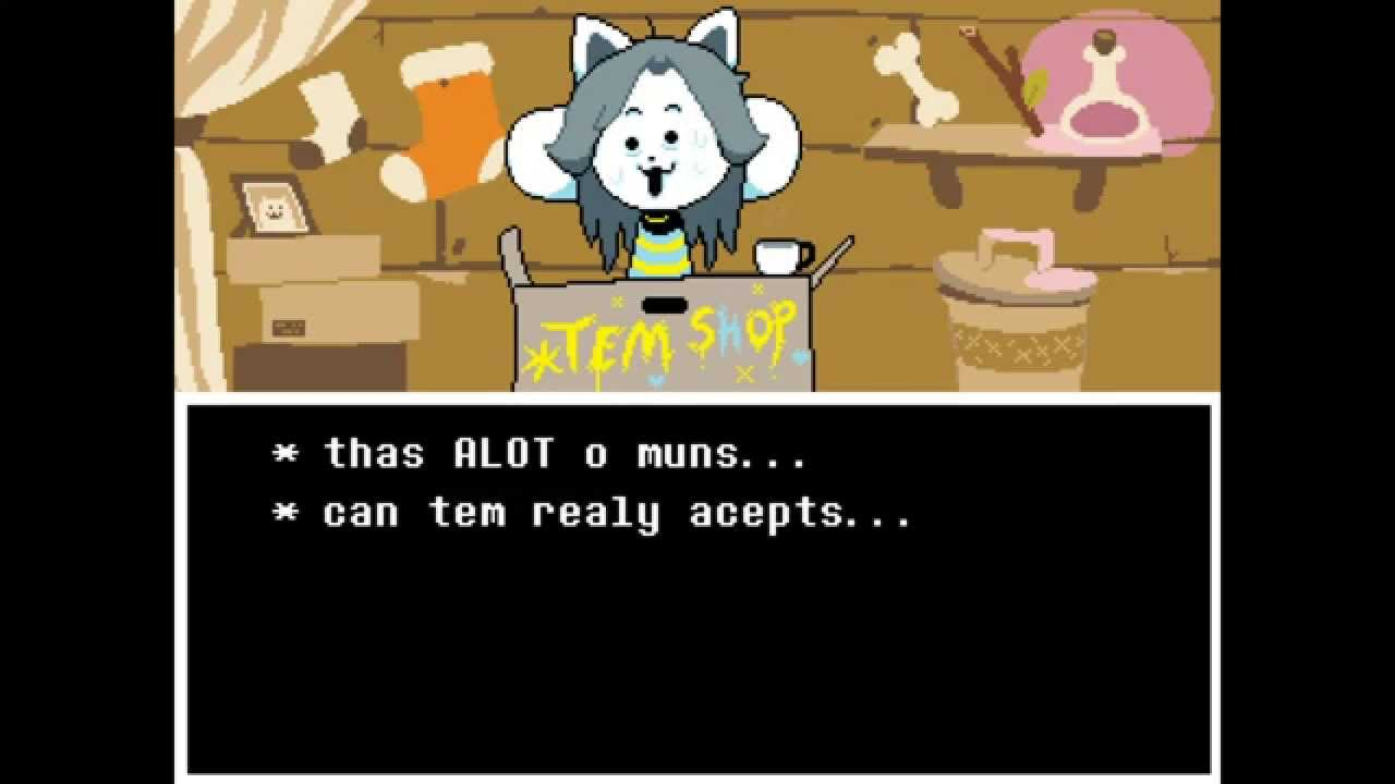 undertale  paying for temmie u0026 39 s college