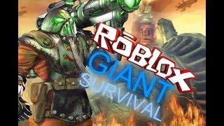 ROBLOX - Giant Survival - Killing the giant as fast as snow in the sun!!