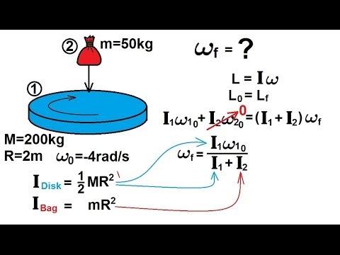 Physics - Mechanics: Angular Momentum (2 of 11) Ex. 1: Sand Bag on Rotating Disk