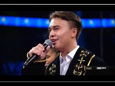 Kazakhstan Anthem - Diaz Mussalimov and GGG 16.09.2017