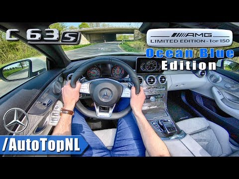 Mercedes AMG C63 S Convertible | 1 of 150 Ocean Blue Edition | POV Test Drive by AutoTopNL