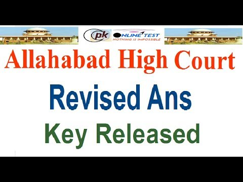 Allahabad High Court Revised Answer Key Released Steno