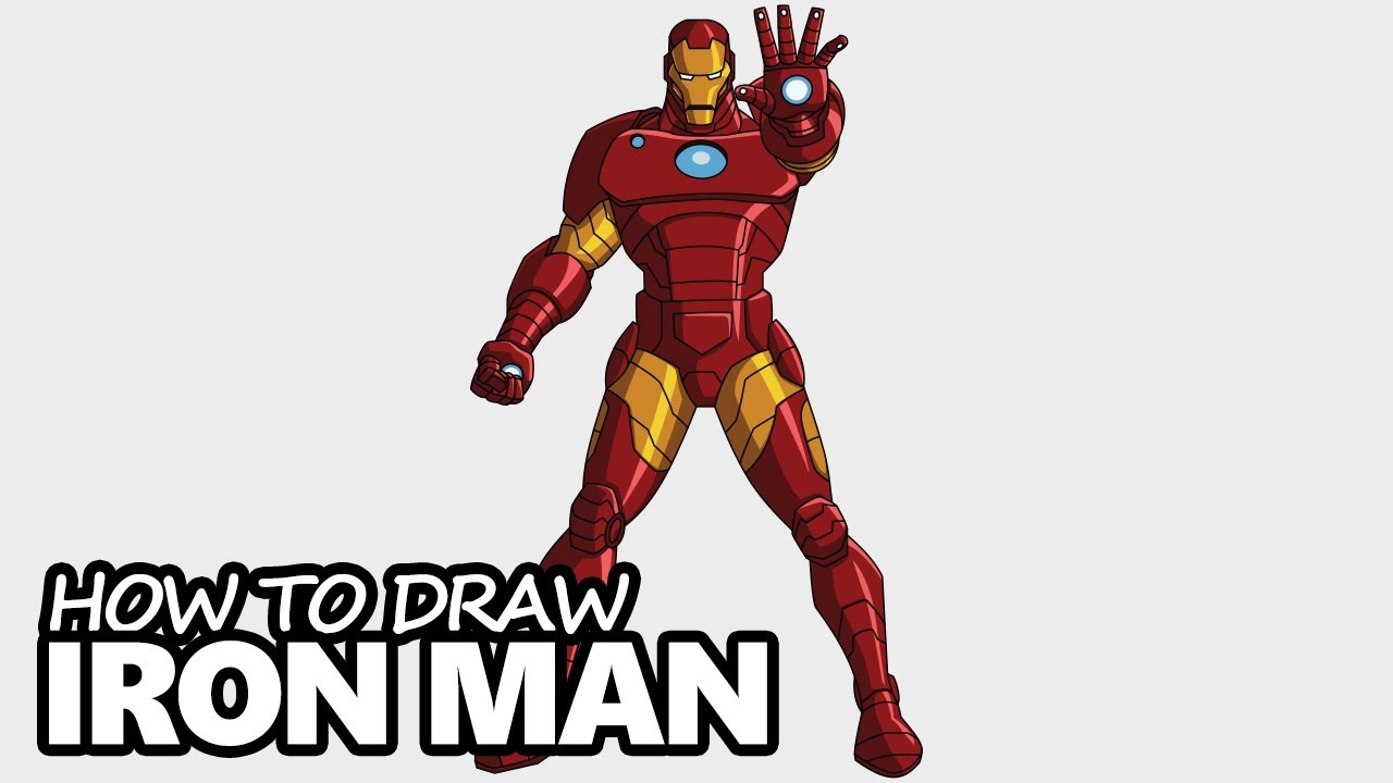 how to draw iron man easy step by step drawing tutorial