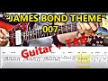"""JAMES BOND THEME"" for Lead-Guitar + Tabs (How To Play) 007"