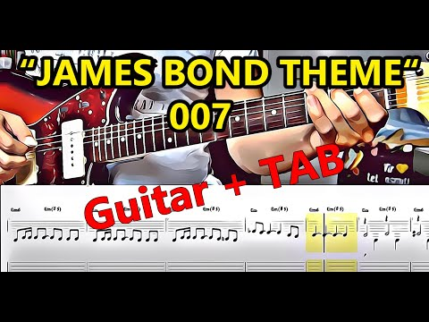 """""""JAMES BOND THEME"""" for Lead-Guitar + Tabs (How To Play) 007"""