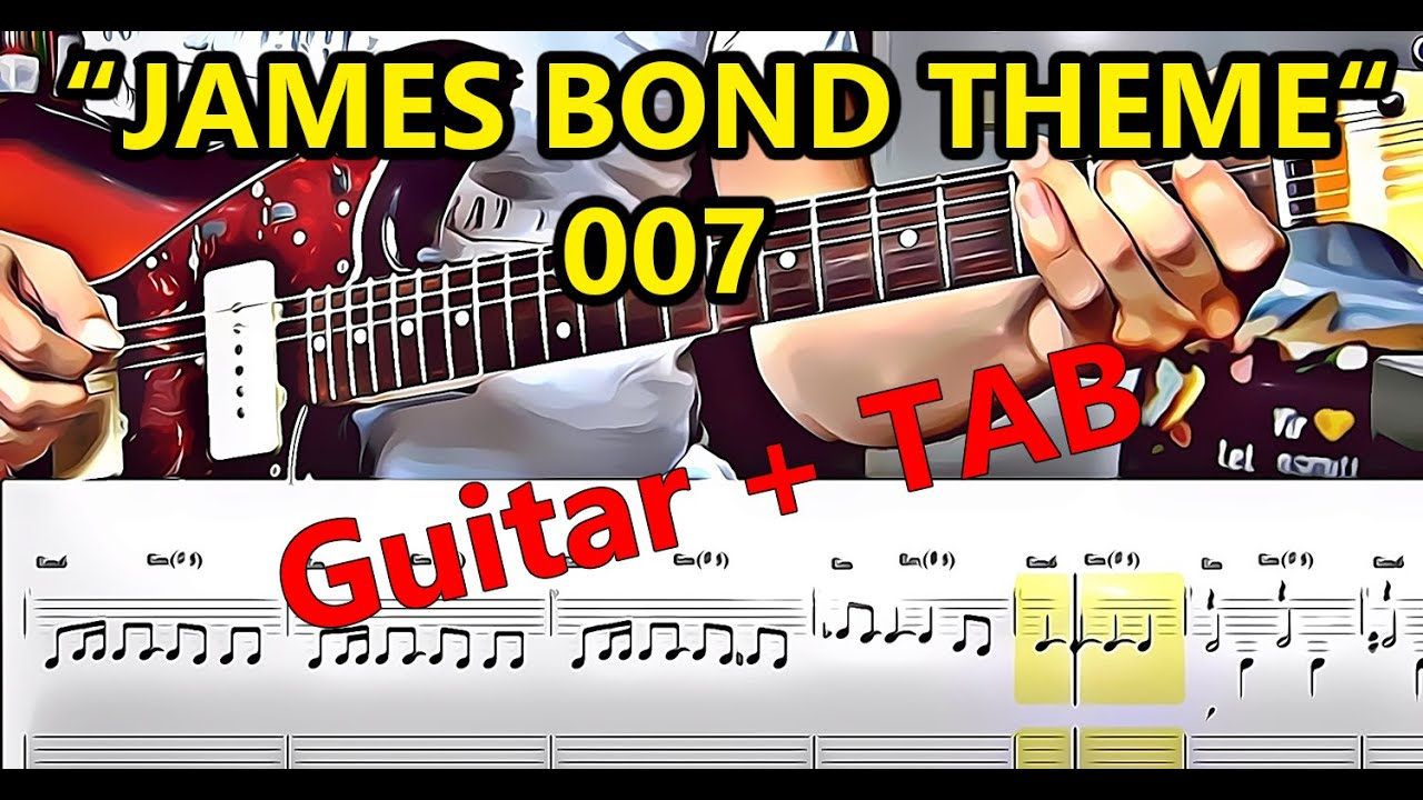 James Bond Theme For Lead Guitar Tabs How To Play 007 Youtube