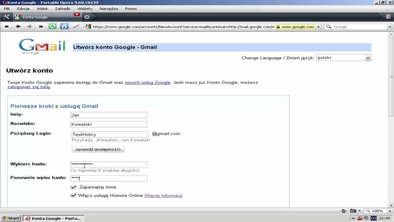 f750ddaa02ca4 Jak założyć konto email na gmail    holicy.pl  - YouTube