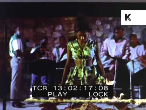 1960s Caribbean Fire Dance, Limbo, Colour Footage