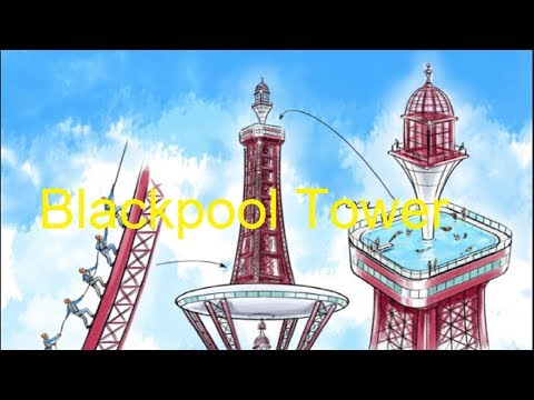 Blackpool Tower Attraction in Blackpool, Lancashire, England.