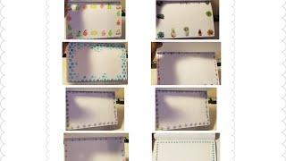 Technique Tuesday - Different Simple Decorative Borders