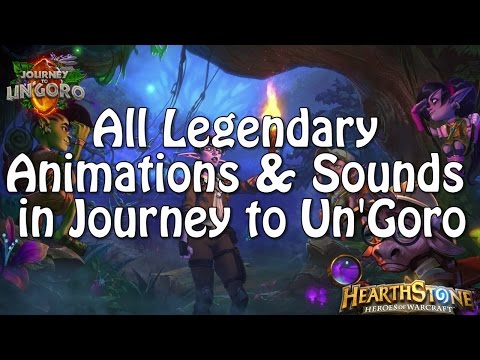 All Legendary Animations And Sounds In Journey To Un'Goro
