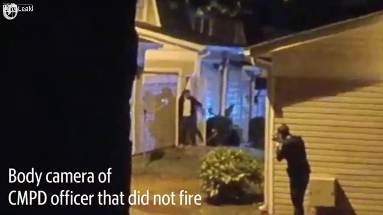 Charlotte man had arms raised when police shot him LiveLeak video