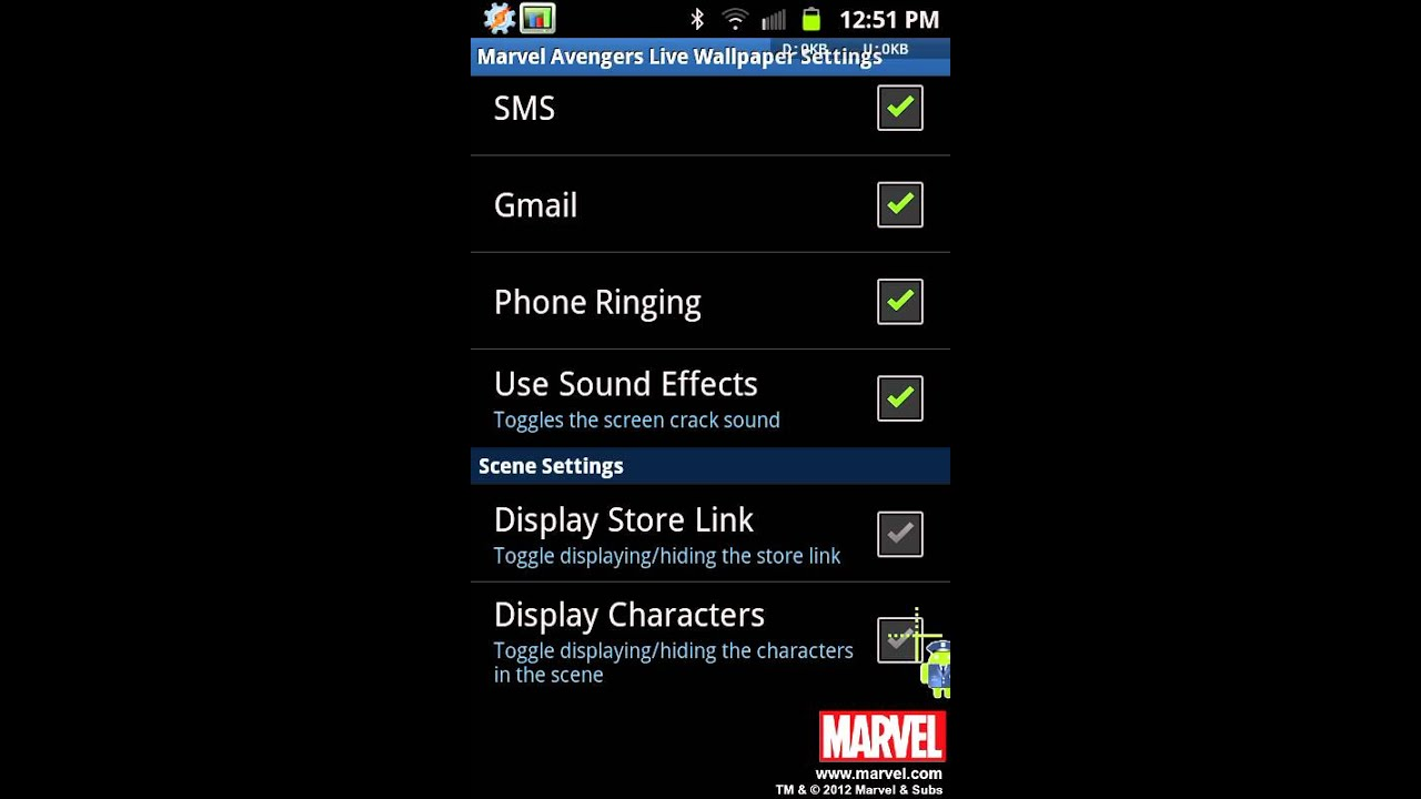 Quick Look At The Official The Avengers Android Live Wallpaper By