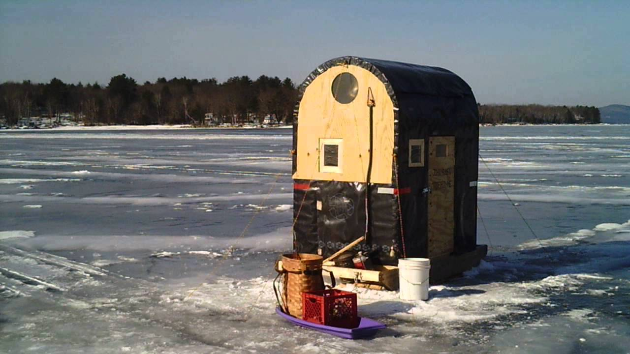 Sunp0012 ice fishing sebago lake maine youtube for Maine out of state fishing license
